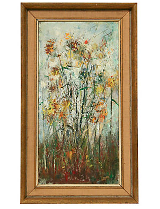 Mid Century Floral Painting