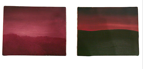 Pair, Vintage Landscape Oils on Canvas