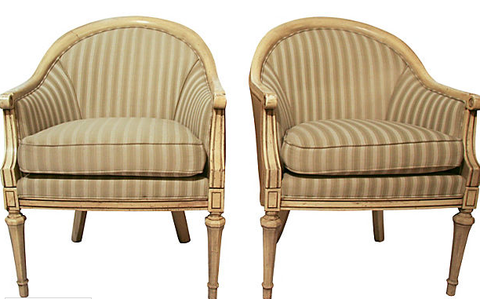 Pair, French Style Chairs
