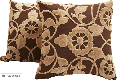 Pair, New Pillows, Floral Linen
