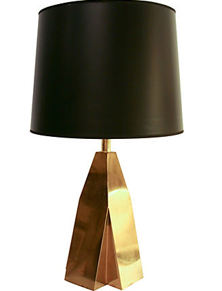 Vintage Sculptural Brass Lamp