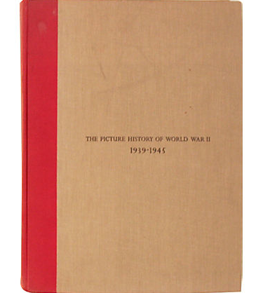 Vintage 1946 Edition, The Picture History of WWII Book