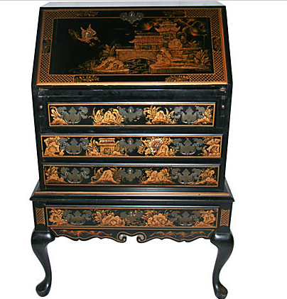 Chinoiserie Drop Front Desk