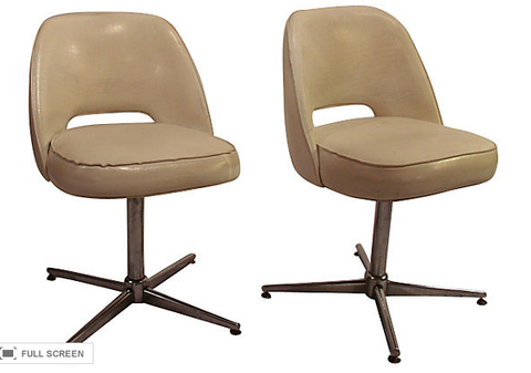 Pair, Mid Century Swivel Chairs