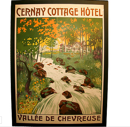 Original French Cernay Cottage Poster