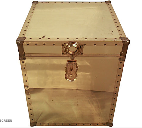 Large Brass Trunk Table