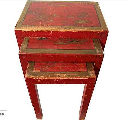 Chinoiserie Nesting Tables
