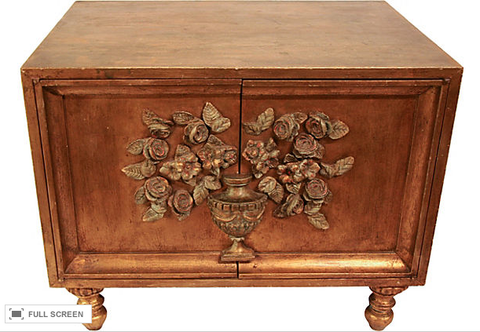 Carved Gilt Wood Cabinet
