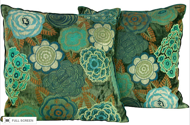 Pair, Custom Turquoise Pillows