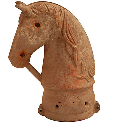 Antique Cast Métal Horse Head