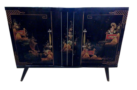 Mid Century Chinoiserie Cabinet