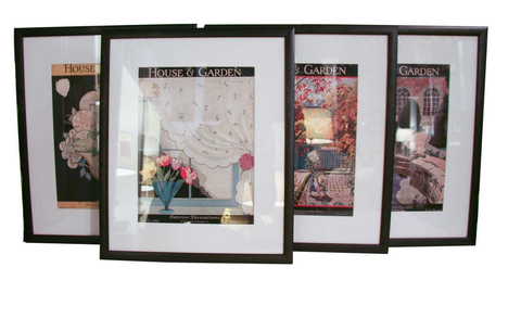 Set of 4 Framed 1920's House and Garden Magazine Covers