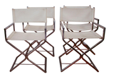 Set of 4 Mid Century Director Style Dining Chairs