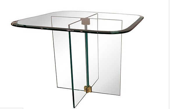 Mid Century Glass Side Table