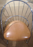 Mid Century Chrome Desk Chair