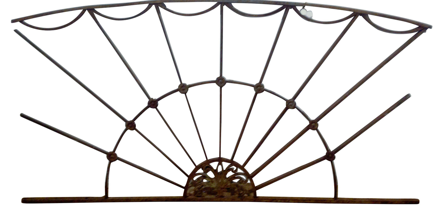 antique wrought iron fence, gate