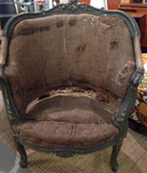 Pair antique French Berger Chairs