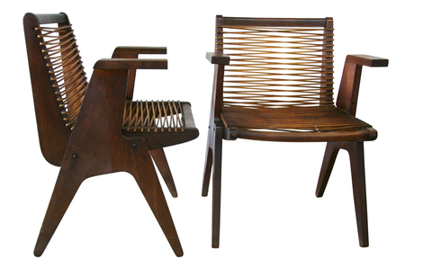 Mid century Klaus Grab chairs - rope chairs