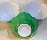 Set, 3 vintage glass Lotus Serving Bowls