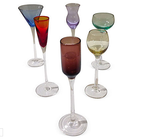 Vintage set of 6 glass cordial glasses