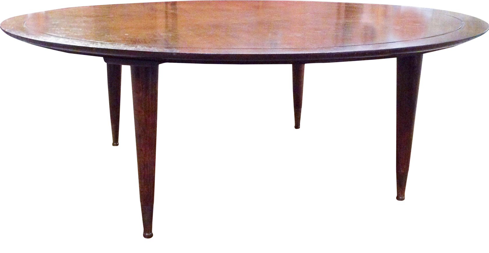 Mid century round wood cocktail - coffee table