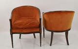 Pair, Mid Century Hickory Club Chairs
