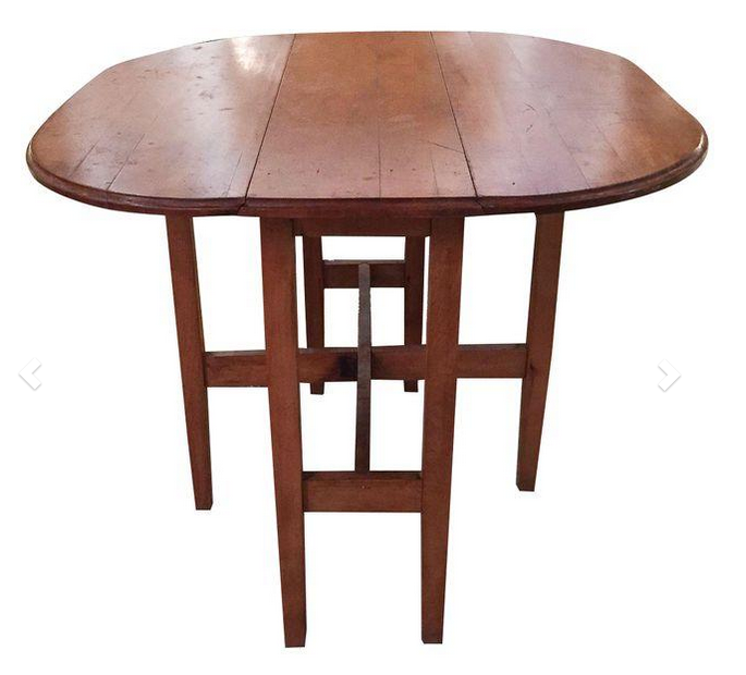 1930's Gate Leg Dining Hall Table
