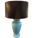 Early Turquoise Asian Urn Lamp