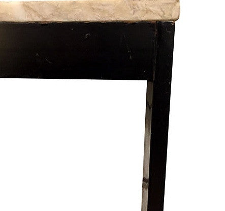 Mid Century Marble and Metal Parsons Console Table