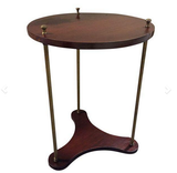 Mid Century 2 Tier Mahogany and Brass Table
