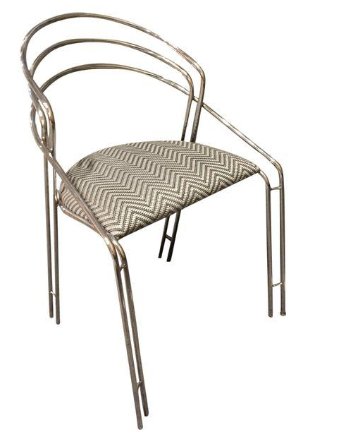 Vintage Chrome Chair - Graphic Upholstery