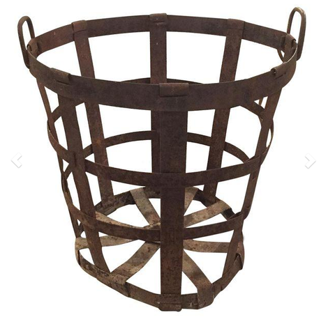 Large Antique Metal Basket