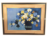 Mid Century - Oil on Canvas - Flowers