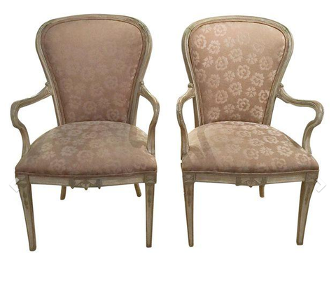 Pair, 1930's French Style Arm Chairs