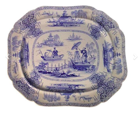 Antique, Large English Staffordshire Platter - John Ridgway - Napier
