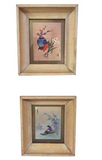 Pair, Asian Framed Water Colors