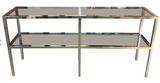Mid Century Chrome Console Table - Parson Style