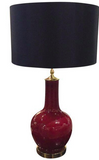 Mid Century Ox Blood Lamp