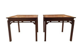 Pair, 1940's Asian Carved Side Tables