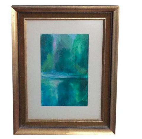 Mid Century Impressionistic Painting, Gilt Frame