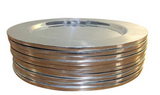 Set of 10 Vintage Chrome Finish Chargers, Plates