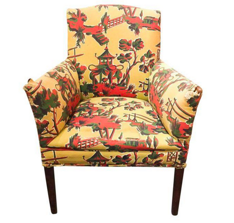 1940's Asian Print Chair