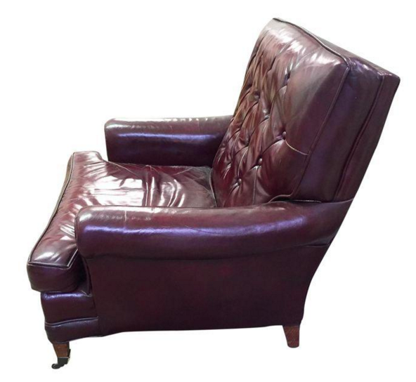 Mid Century Sloane Burgundy Leather Club Chair