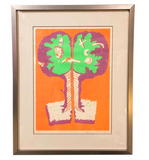Mid Century Hugh Weiss Print - Listed Artist