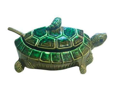 Vintage Ceramic Turtle Serving Dish