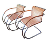 S/6 Mid Century Mies Van Der Rohe MR 20 Chairs