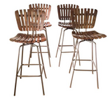 Set of 4, Mid Century Bar Stools