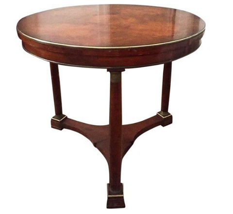 Vintage Biedermeier Style Gueridon Plinth Base Table