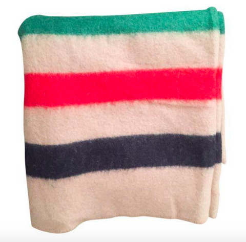 Vintage 3 Point Wool Camp Blanket, Throw