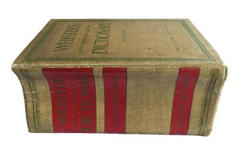 Large 1966 Unabridged Websters Dictionary